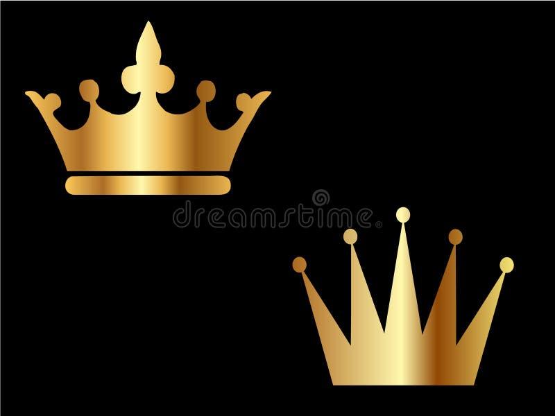 koronuje złoto royalty ilustracja