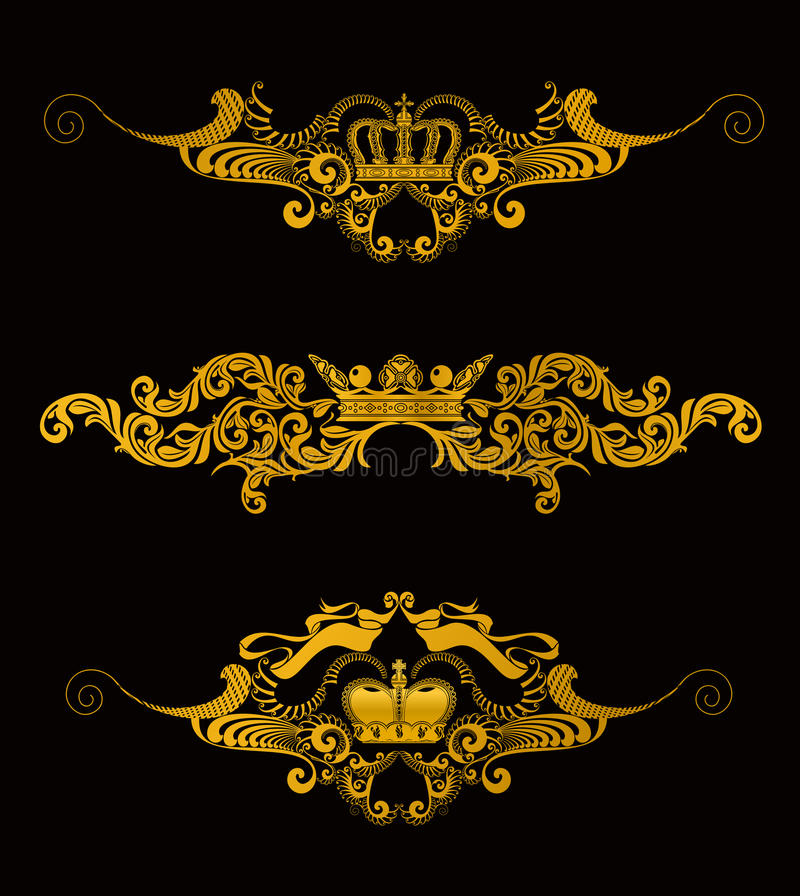 korony ilustracja wektor