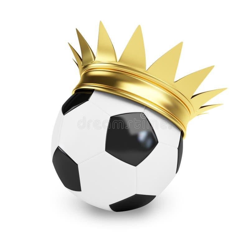 korony balowa piłka nożna royalty ilustracja