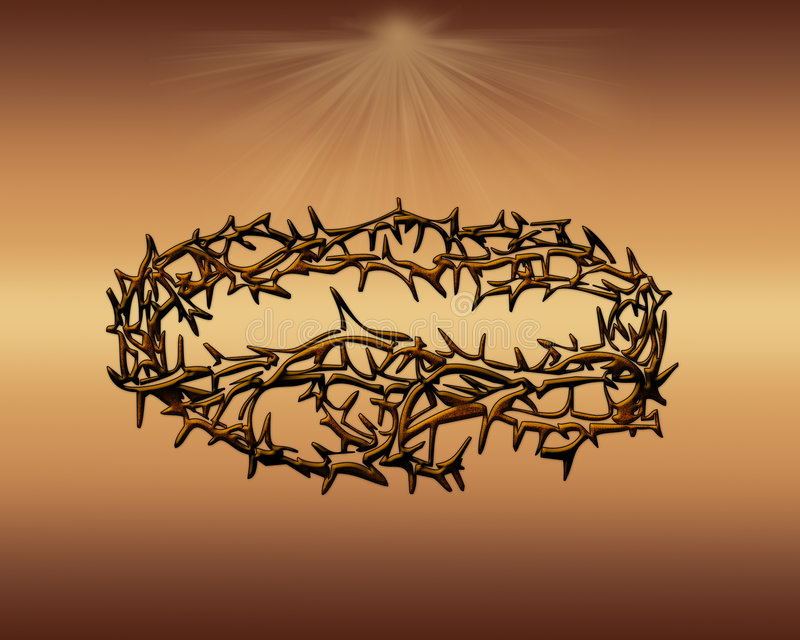 korony cierniowej ilustracja wektor