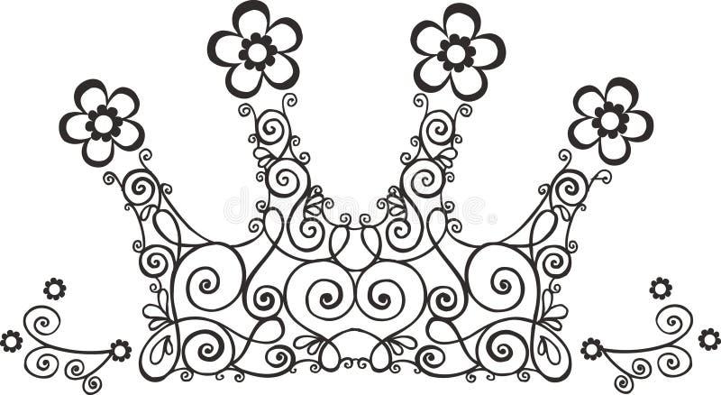 korony ilustracji winorośli royalty ilustracja