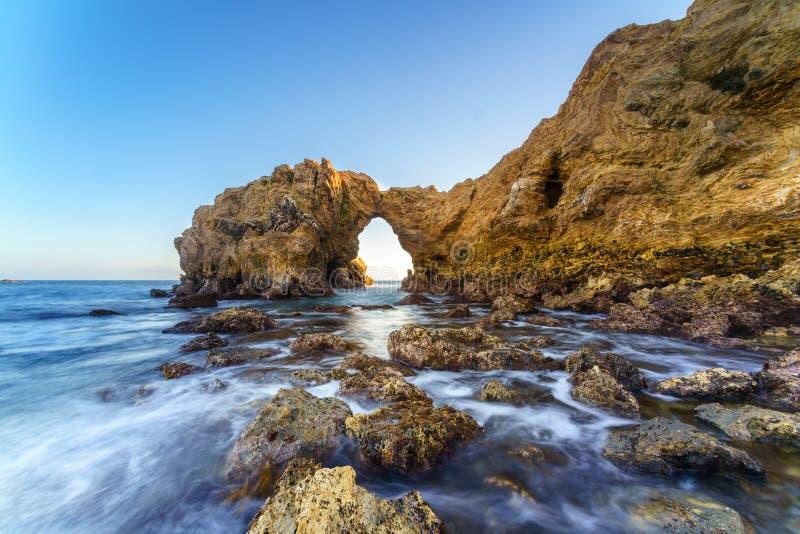 Korony słonecznej Del Mącący Skaczący skała, Kalifornia fotografia stock