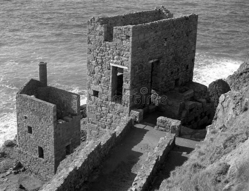 Korony sekcja, Botallack kopalnia, St Właśnie, Cornwall zdjęcia stock
