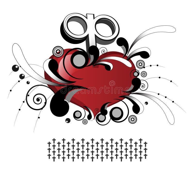 korony serce ilustracji