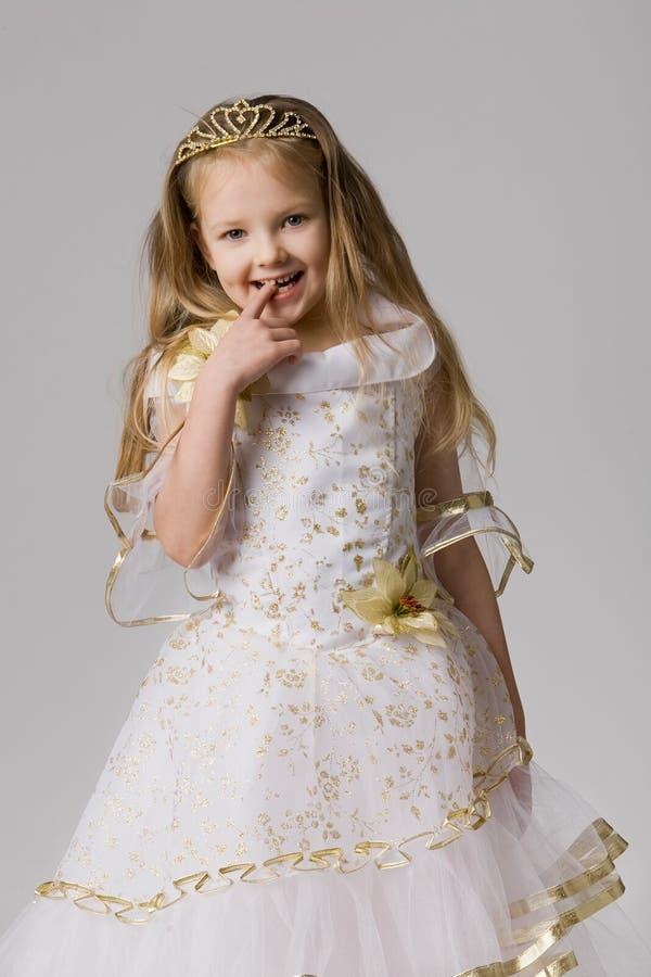 korony włosiany mały długi princess whith obraz royalty free