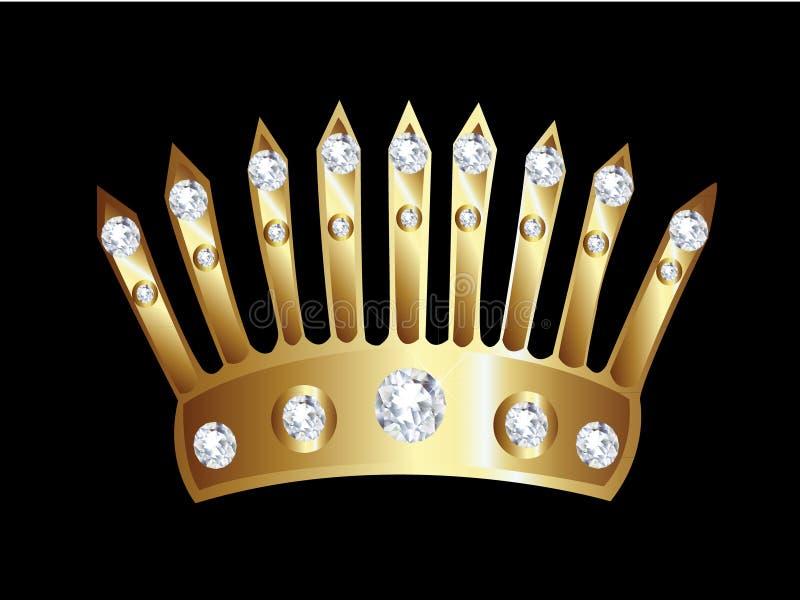 korony złoto royalty ilustracja