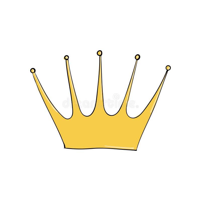 korony złoto operla czerwonych rubiny Symbol władza Headpiece królewiątko Ikony oznaczania insygnia i sukces ilustracja wektor