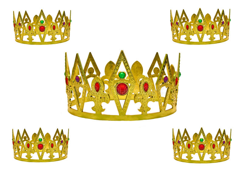 korony złoto pięć ilustracji