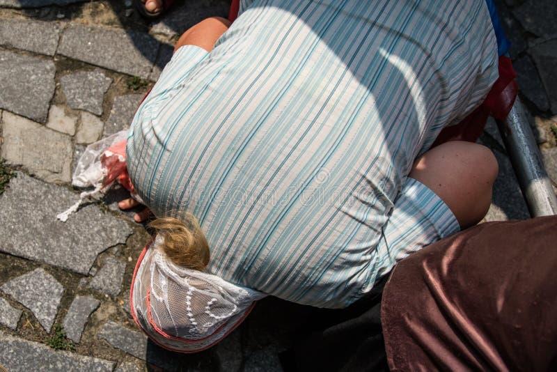 Korowód dla pokoju w Kyiv obraz royalty free