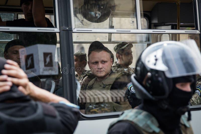 Korowód dla pokoju w Kyiv zdjęcie royalty free