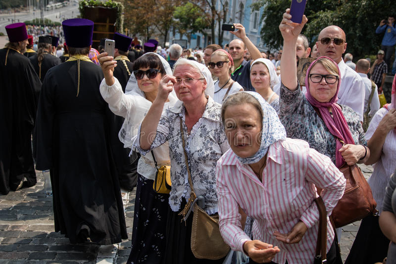 Korowód dla pokoju w Kyiv zdjęcia royalty free
