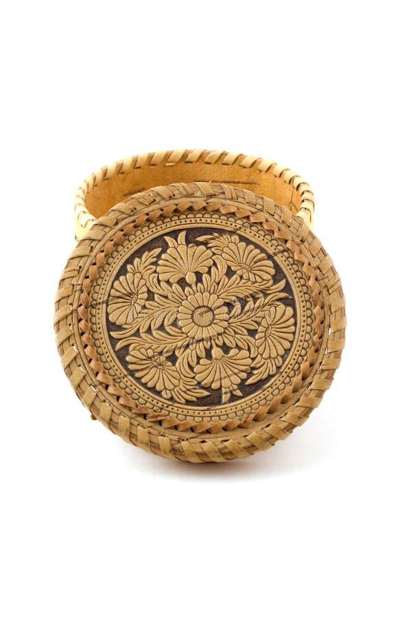 korowatego pudełko biżuterii rosyjski pamiątkarski drzewo zdjęcie stock