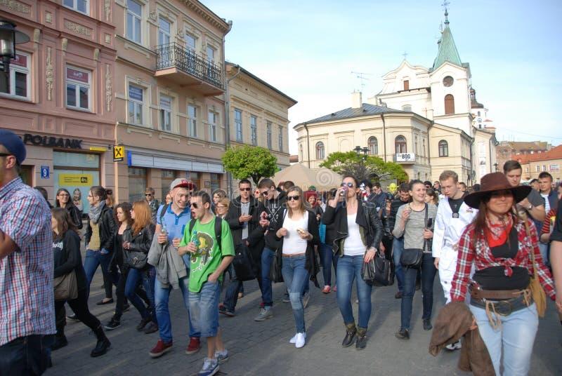 Korowod 2014 - studencki s wakacje obraz royalty free