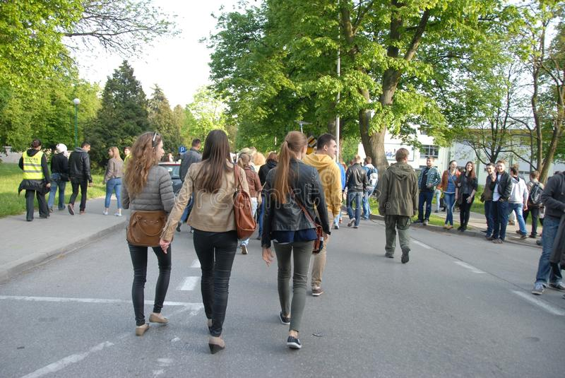 Korowod 2014 - studencki s wakacje fotografia stock