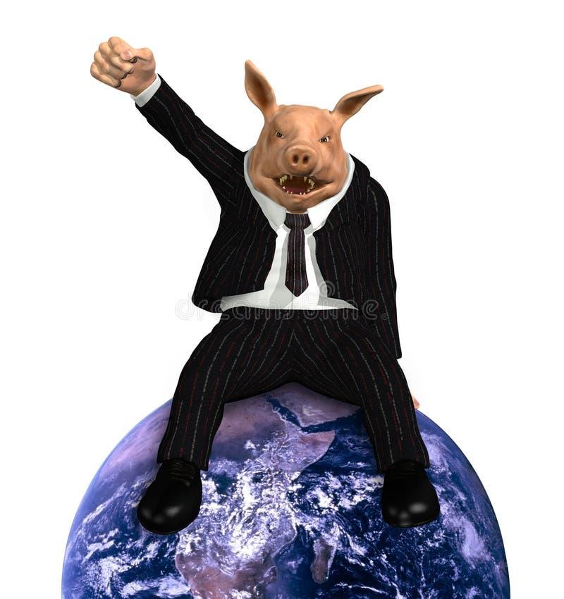 korporacj wielonarodowy reguły świat royalty ilustracja