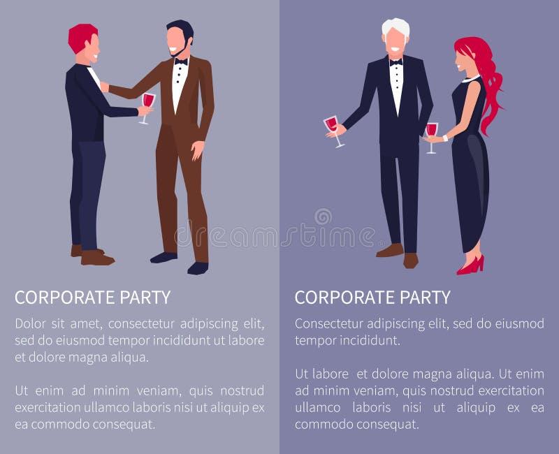 Korporacyjna Partyjna unaocznienie wektoru ilustracja royalty ilustracja