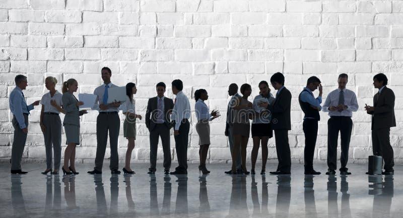 Korporacyjnego biznesu drużyny dyskusi spotkania pojęcie zdjęcia stock