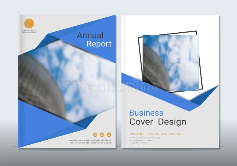 Korporacyjnego biznesu pokrywy książki projekta szablon ilustracja wektor