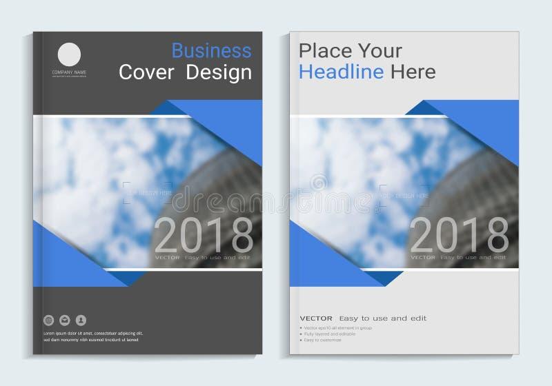 Korporacyjnego biznesu pokrywy książki projekta szablon ilustracji
