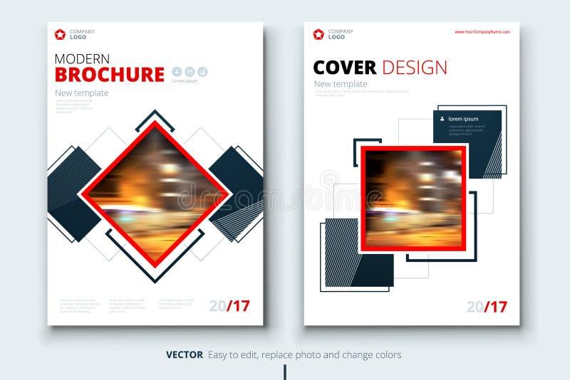 Korporacyjnego biznesu sprawozdania rocznego pokrywa, broszurka lub ulotka projekt, Ulotki prezentacja Katalog z Abstrakcjonistyc ilustracji