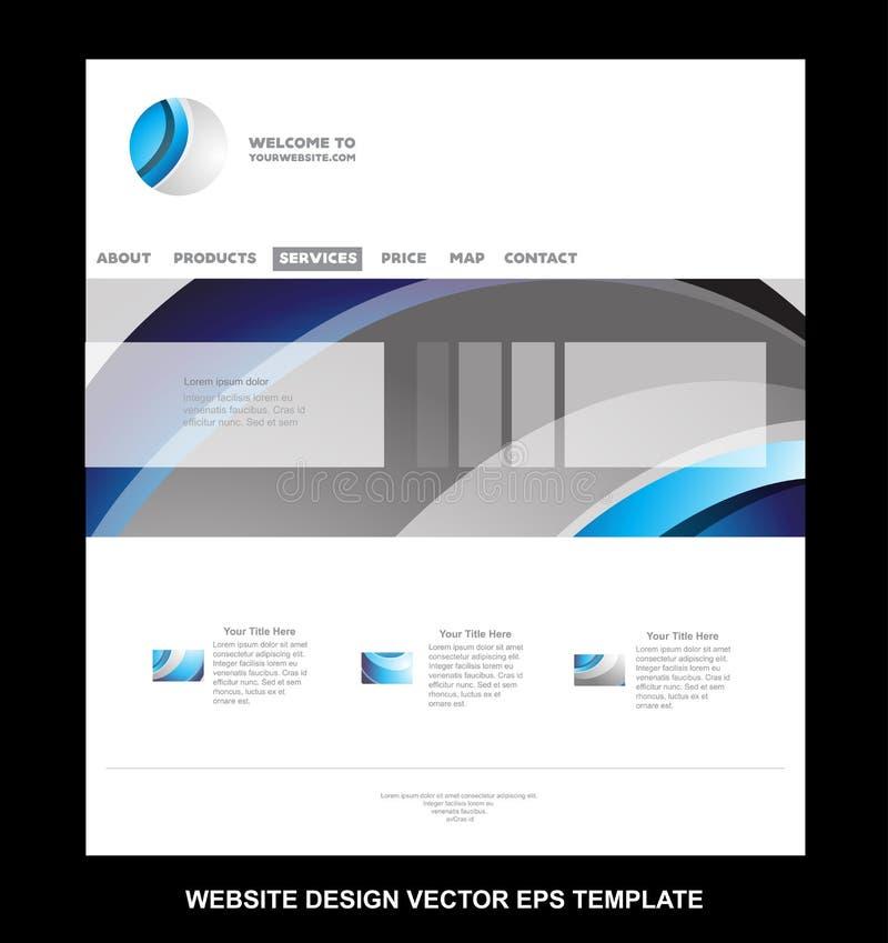 Korporacyjnego biznesu strony internetowej wektorowy szablon ilustracja wektor