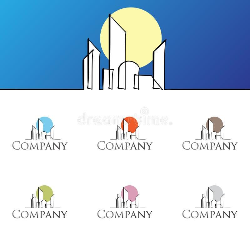 korporacyjnego projekta loga szablon royalty ilustracja