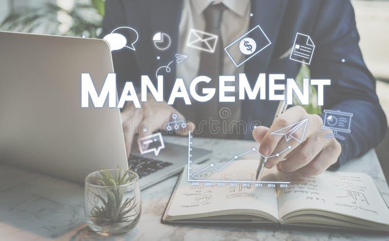 Korporacyjnego zarządzania strategii rozwiązanie Oznakuje pojęcie zdjęcia stock