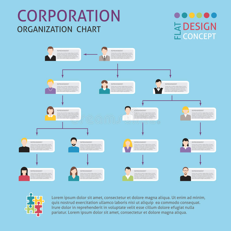 Korporacyjnej struktury set ilustracji