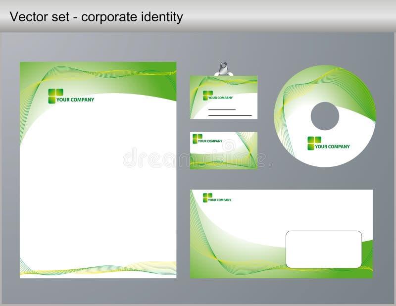 korporacyjnej tożsamości ilustraci wektor ilustracja wektor
