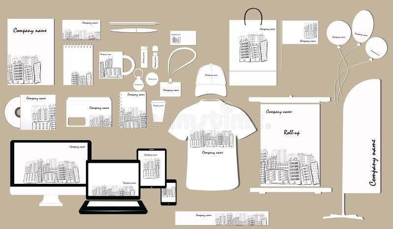 Korporacyjnej tożsamości szablonu projekt ilustracja wektor