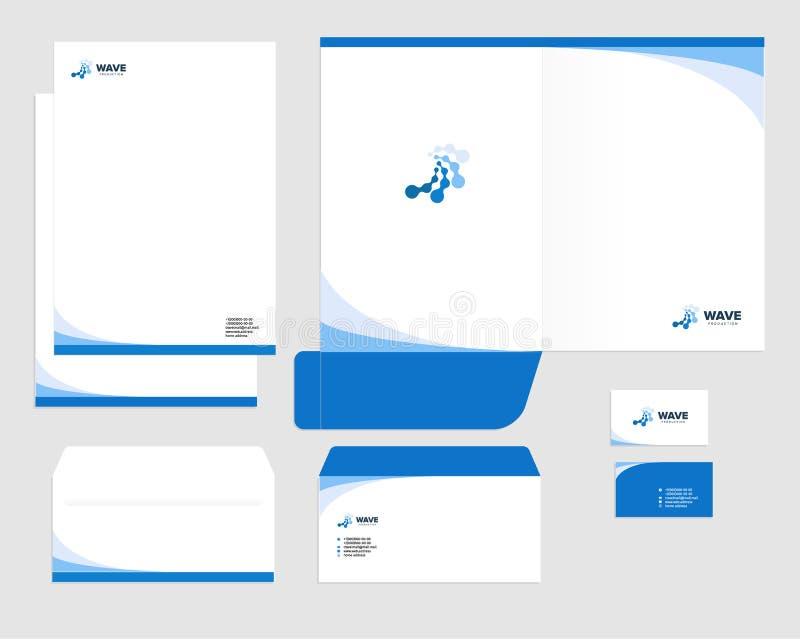 Korporacyjnej tożsamości szablonu projekt, wizualny marketingu gatunek, biznesowy tożsamość set Karta, letterhead, koperta, falcó ilustracji