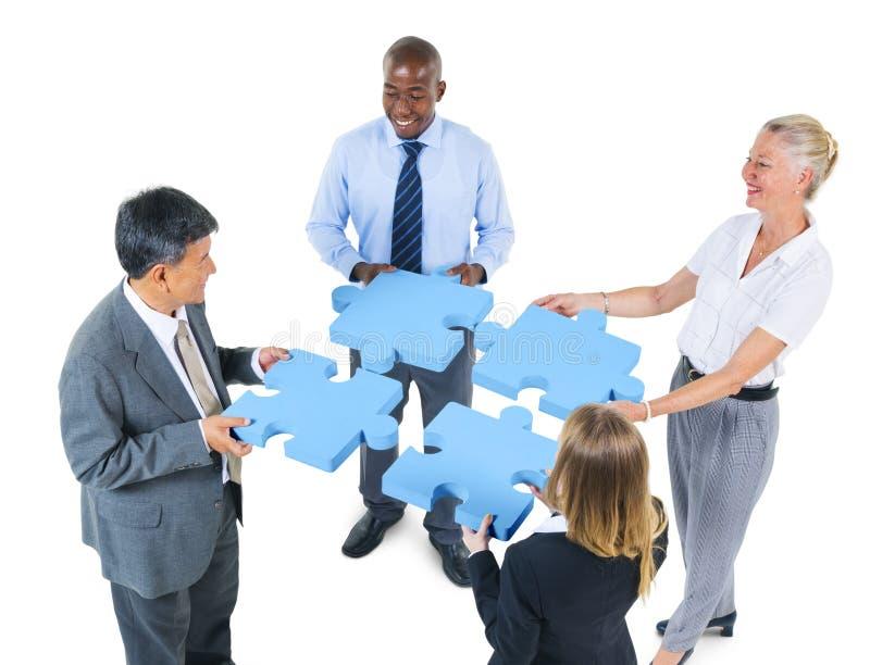 Korporacyjni ludzie biznesu pracy zespołowej poparcia partnerstwa pojęcia zdjęcia stock