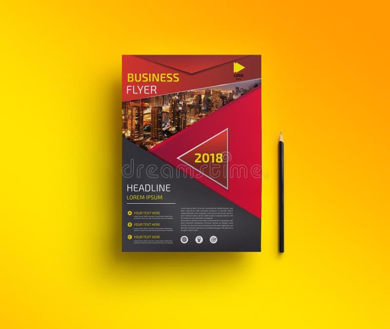Korporacyjny biznes Flyer786 royalty ilustracja
