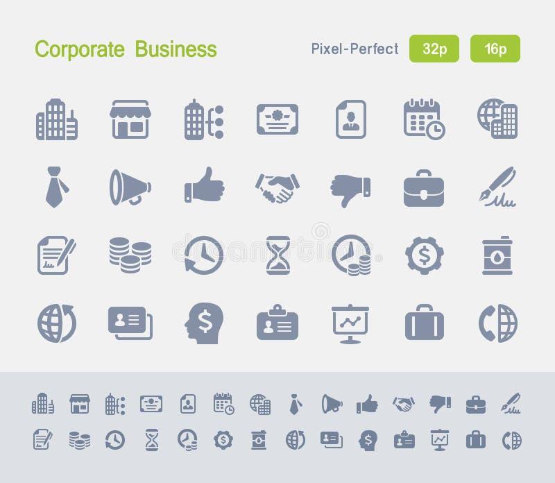 Korporacyjny biznes | Granitowe ikony obrazy stock