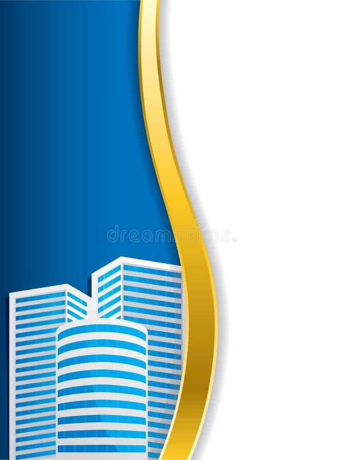 Korporacyjny broszurka projekt z budynkiem ilustracja wektor