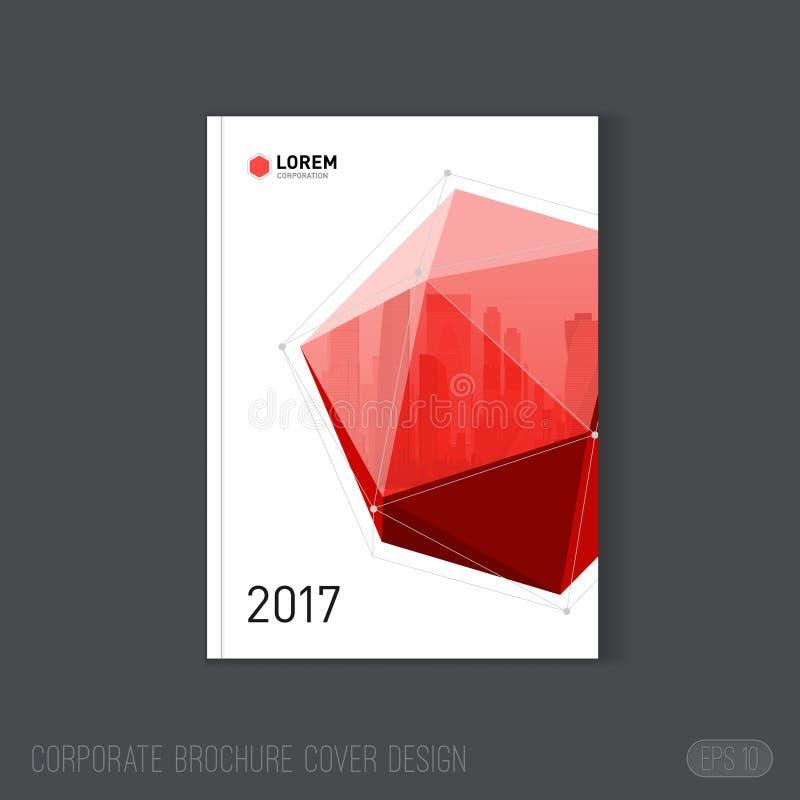 Korporacyjny broszurki pokrywy projekta szablon Dobry dla katalogu, sprawozdania rocznego, plakata lub ulotki, ilustracja wektor