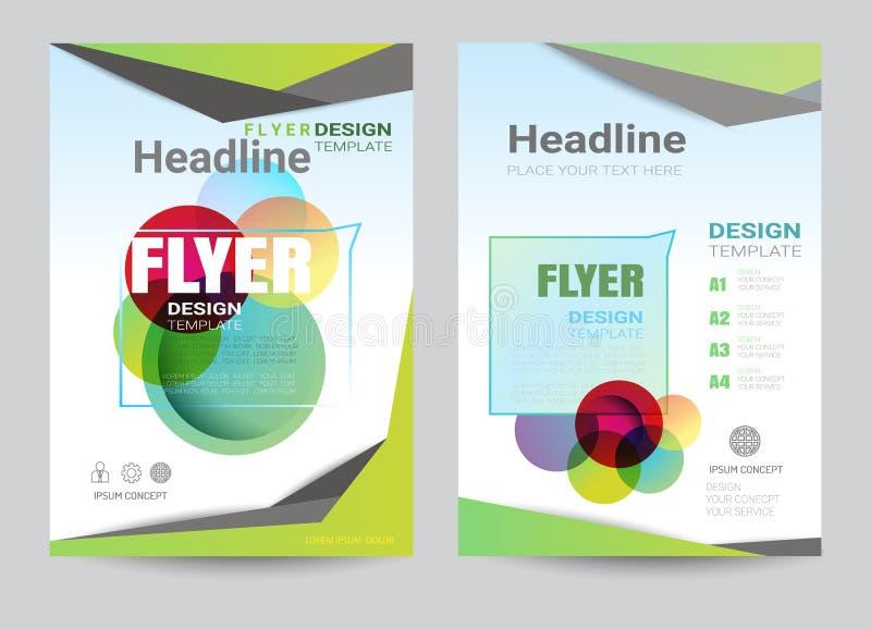Korporacyjny broszurki ulotki projekta układu szablon w A4 rozmiarze ilustracja wektor