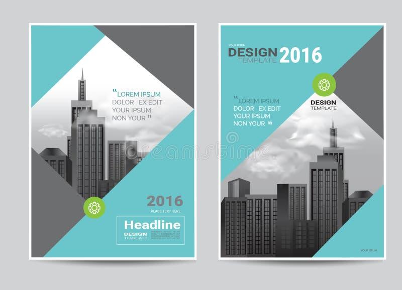 Korporacyjny broszurki ulotki projekta układu szablon w A4 rozmiarze royalty ilustracja