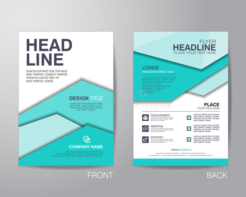 Korporacyjny broszurki ulotki projekta układu szablon w A4 rozmiarze, z ilustracji