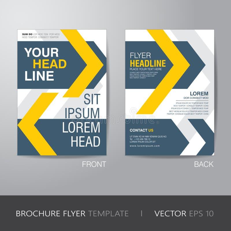 Korporacyjny broszurki ulotki projekta układu szablon w A4 rozmiarze, z ilustracja wektor