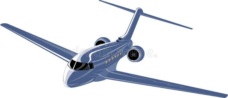 korporacyjny dżetowy samolot ilustracja wektor