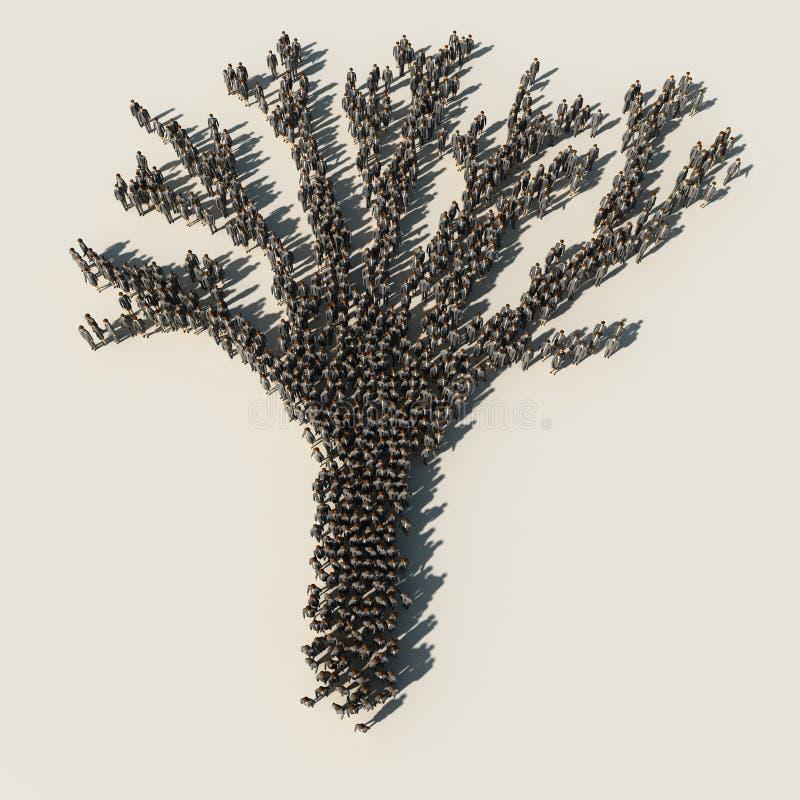 korporacyjny drzewo royalty ilustracja