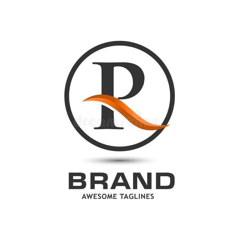 Korporacyjny listu R swoosh logo ilustracji