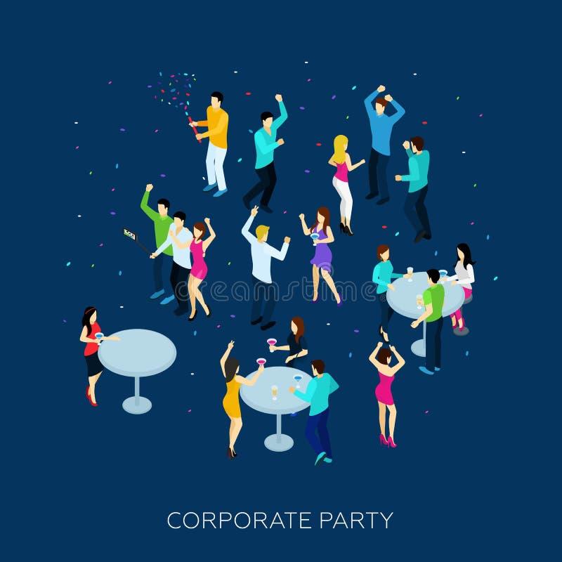 Korporacyjny Partyjny pojęcie ilustracji