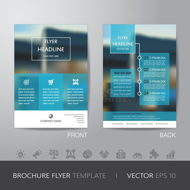 Korporacyjny plamy tła broszurki ulotki projekta układu szablon ilustracji