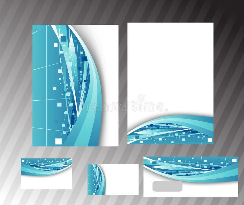korporacyjny skoroszytowy zaawansowany technicznie szablon ilustracja wektor