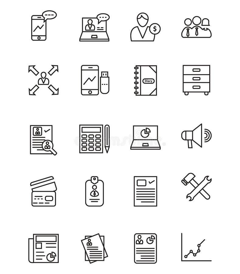 Korporacyjny wektor Odizolowywał Wektorowe ikony ustawiać które mogą łatwo redagować lub modyfikować ilustracji