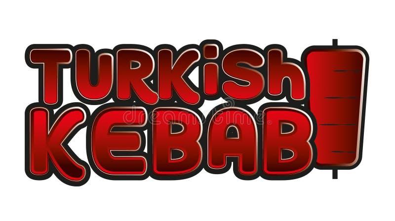Korporacyjny wizerunek dla tureckiego kebabu sklepu spożywczego royalty ilustracja