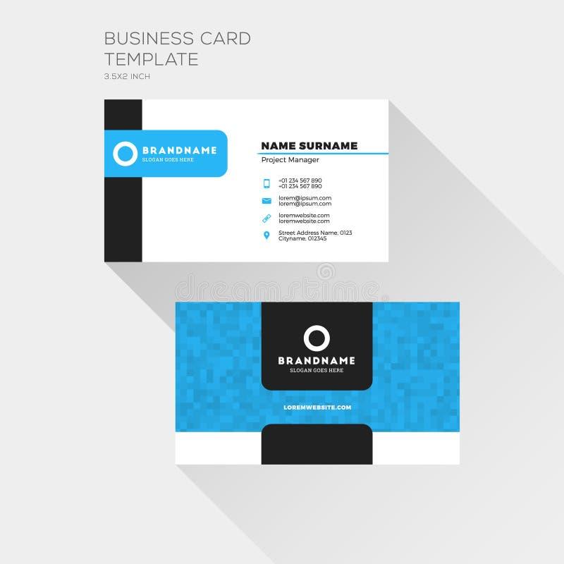 Korporacyjny wizytówka druku szablon Osobista Odwiedza karta ilustracji