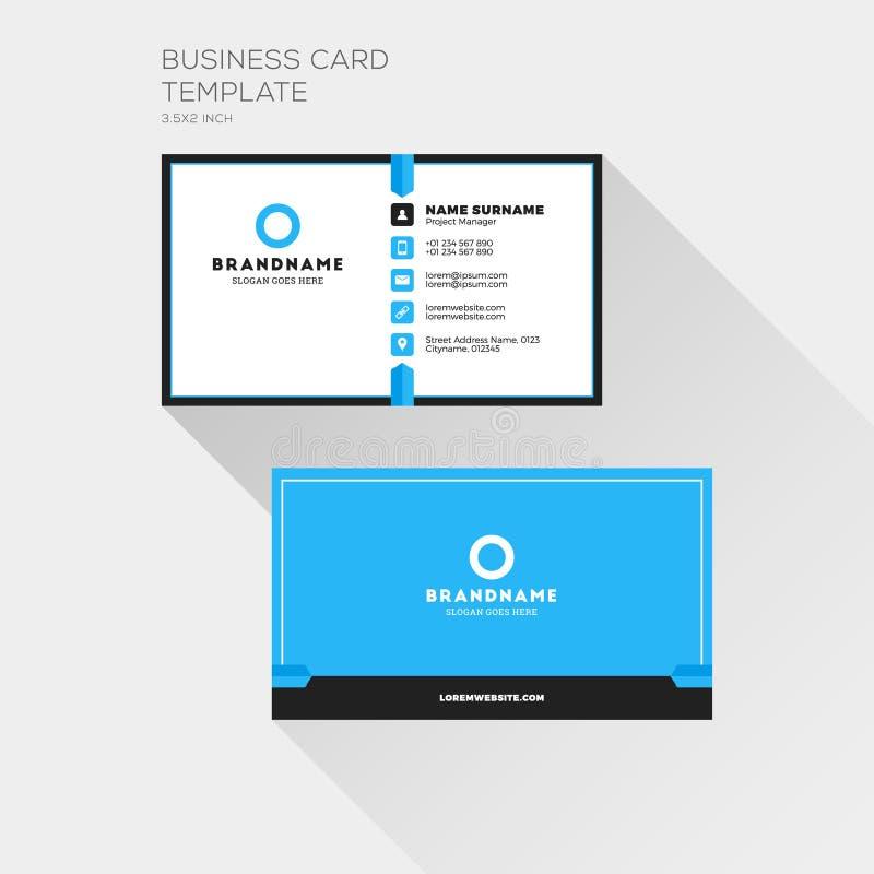 Korporacyjny wizytówka druku szablon Osobista Odwiedza karta w ilustracji